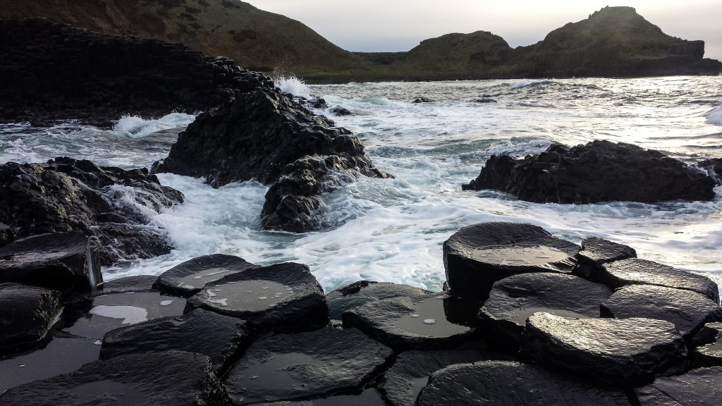 Giant's Causeway, N. Ireland: the same columnar basalt as on Staffa. Image from Pixabay